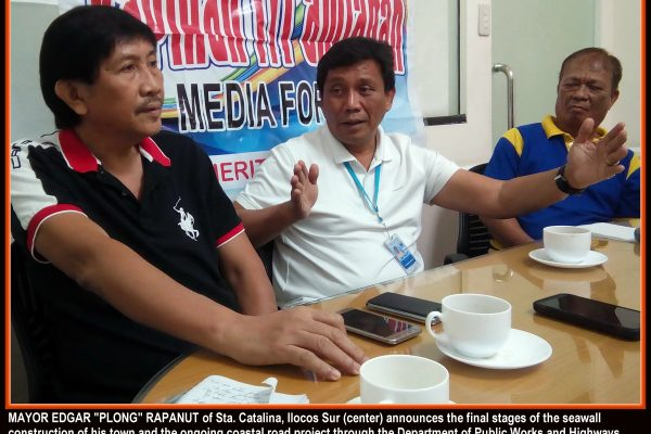 Mayor 'Plong' hopes Sta. Catalina be nominated anew for 'Seal' award (photo by Edward B. Antonio)