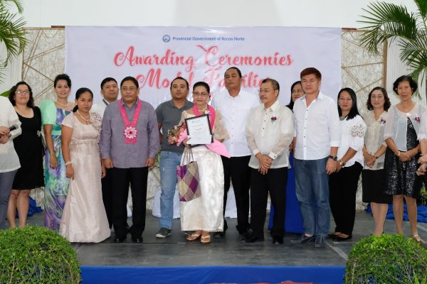 FILE PHOTO from 2017 Model Families awarding ceremony.