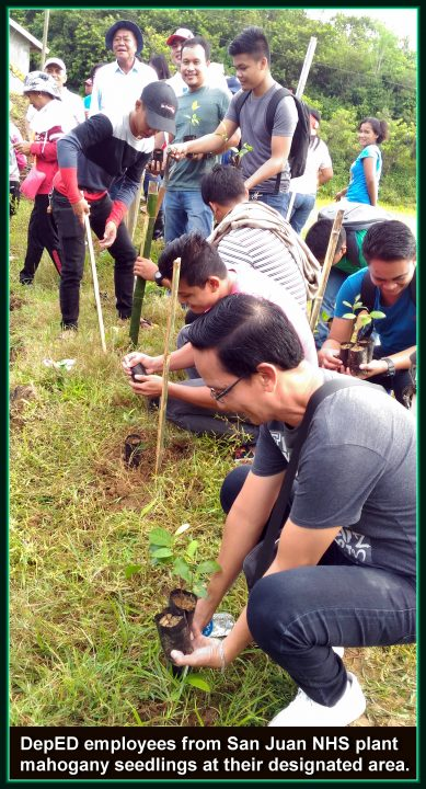 Arbor Day tree planting in San Juan, Ilocos Sur