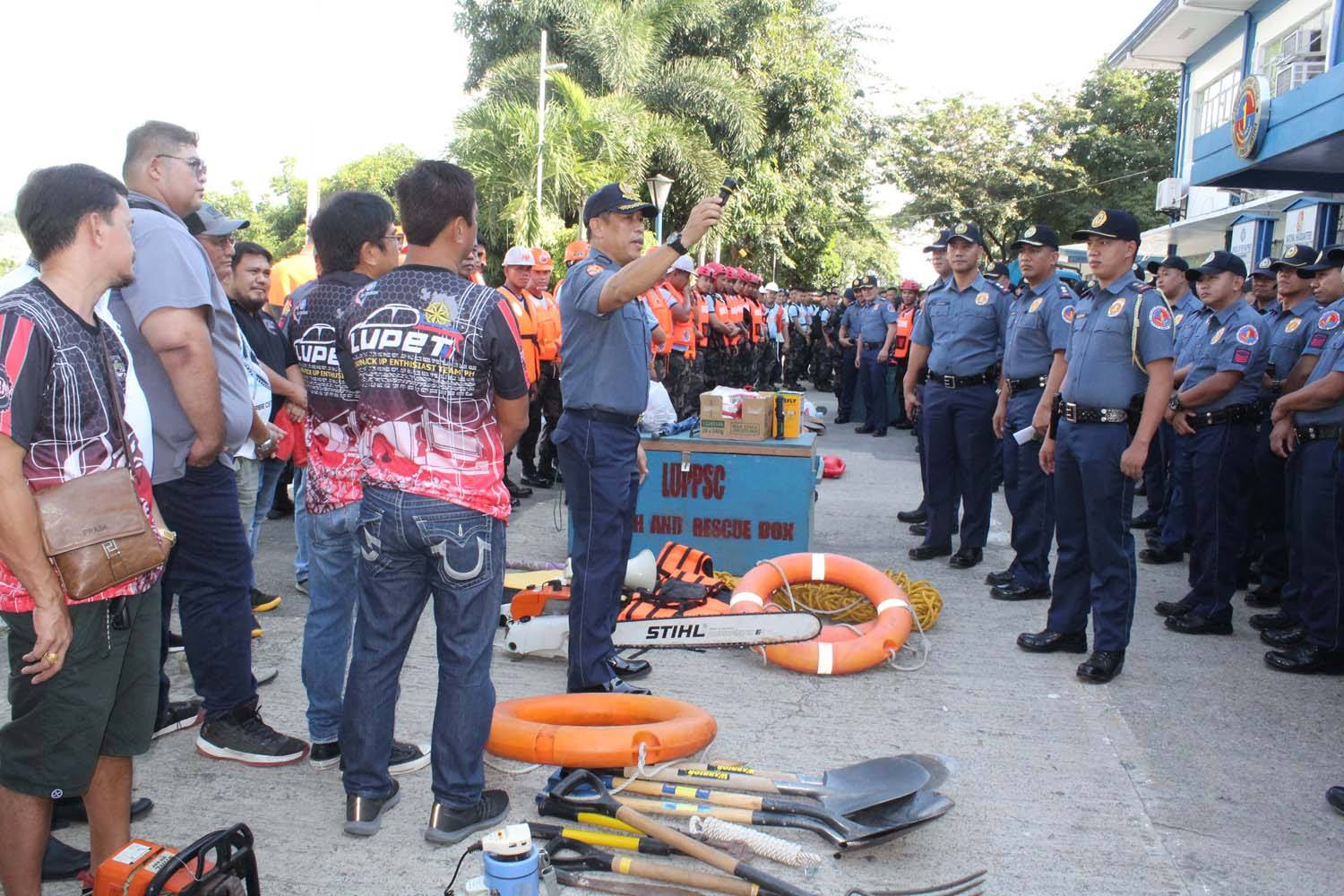 PCSupt Sapitula prepares PRO1 for the onslaught of Typhoon Ompong