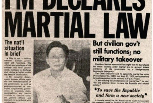 """FM Declares Martial Law""—the headline of the September 24, 1972 issue of the Sunday Express, which was the Sunday edition of Philippines Daily Express. The Daily Express was the only newspaper allowed to circulate upon the declaration of Martial Law"