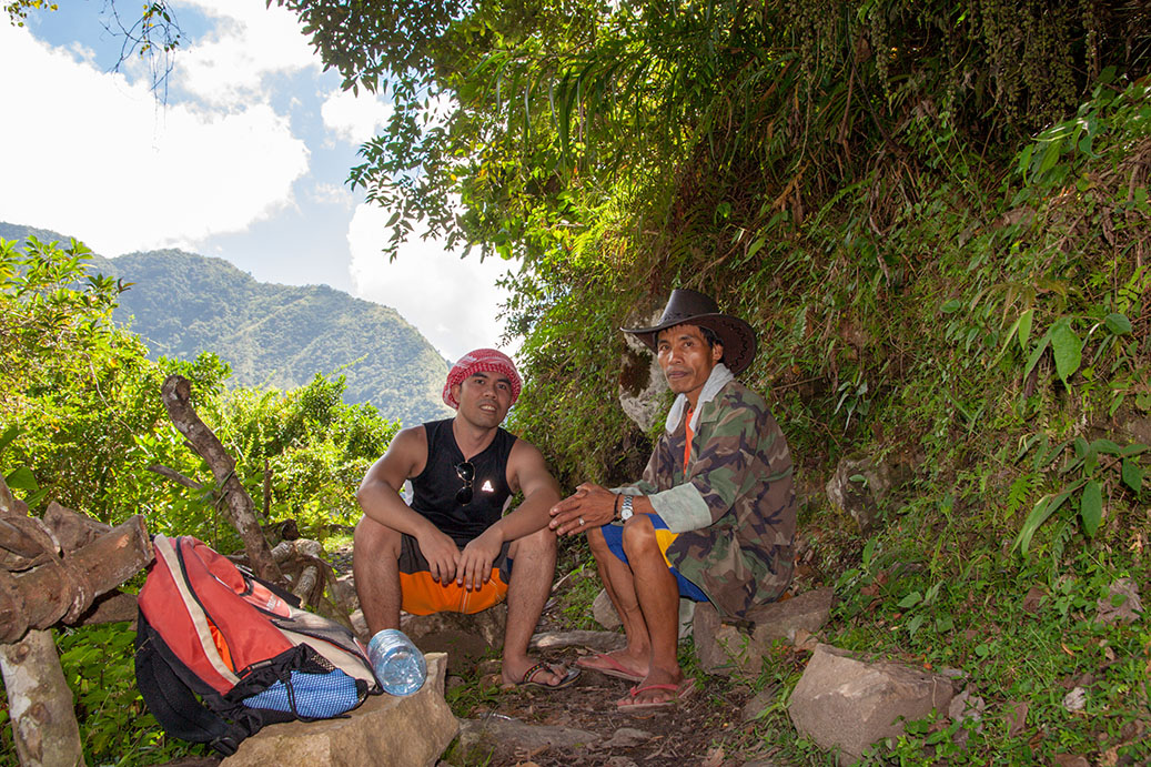 The author with his tour guide on the way to Cambulo, Banaue, Ifugao