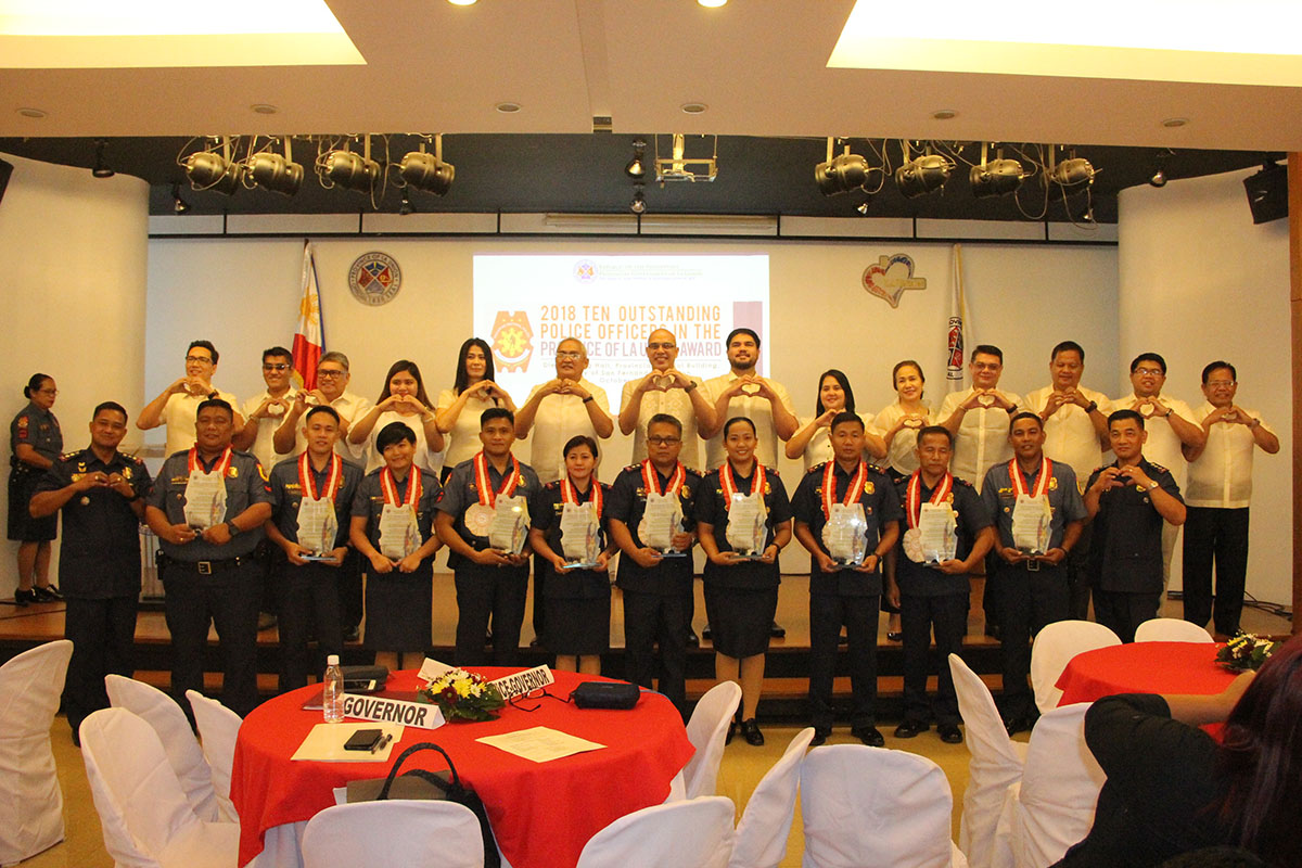 2018 Ten Outstanding Policemen in the province of La Union honored