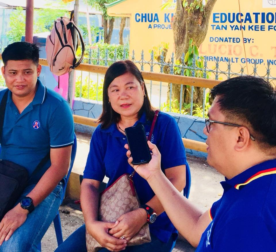 Marivic Lorenzo,Officer in Charge of DPWH Motorists Assistance Center from the 1st Engineering District during a brief interview on All Saint's Day.