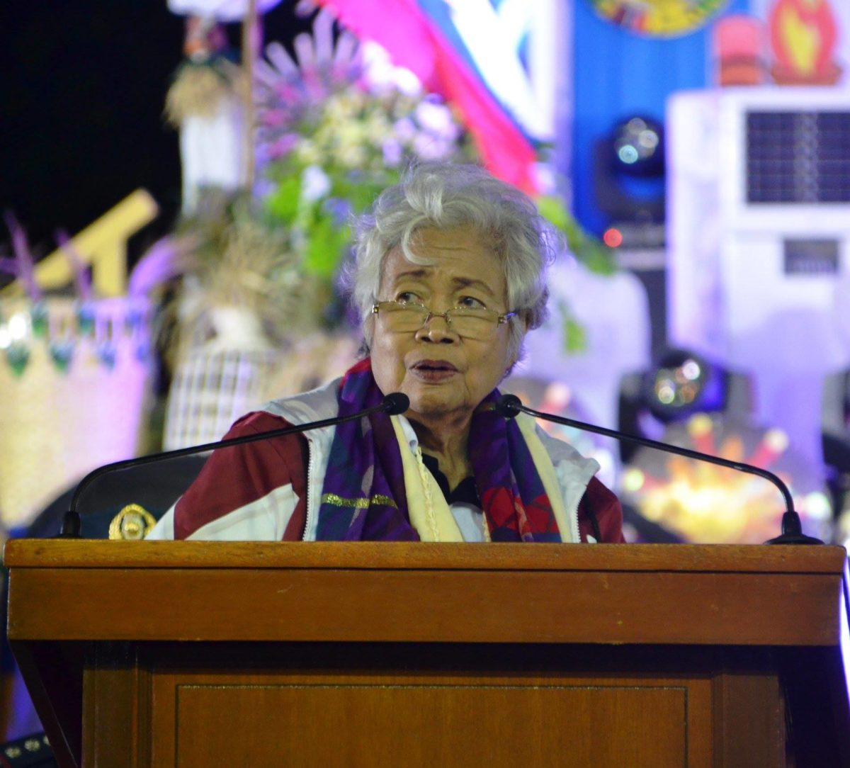 Education Secretary Leonor Briones graced the kickoff ceremony of the National Schools Press Conference