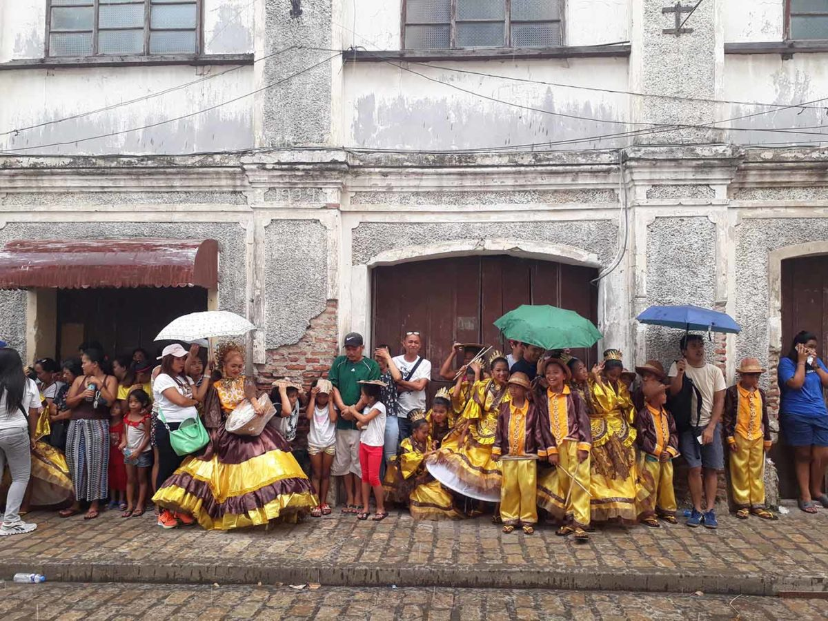 Streetdancing was abruptly interrupted by a sudden rain along Crisologo St., Vigan City, Ilocos Sur (photo by Jasper Allibang Espejo)