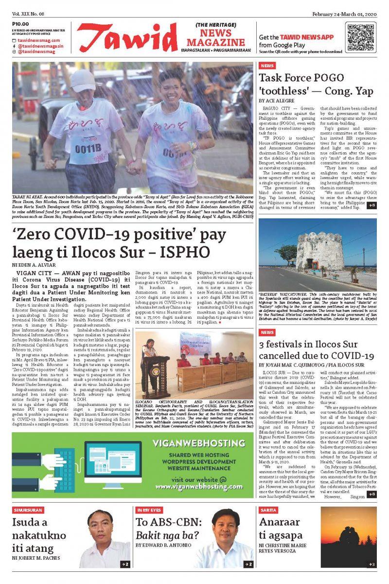 February 24 – March 01, 2020 — Tawid News Magazine