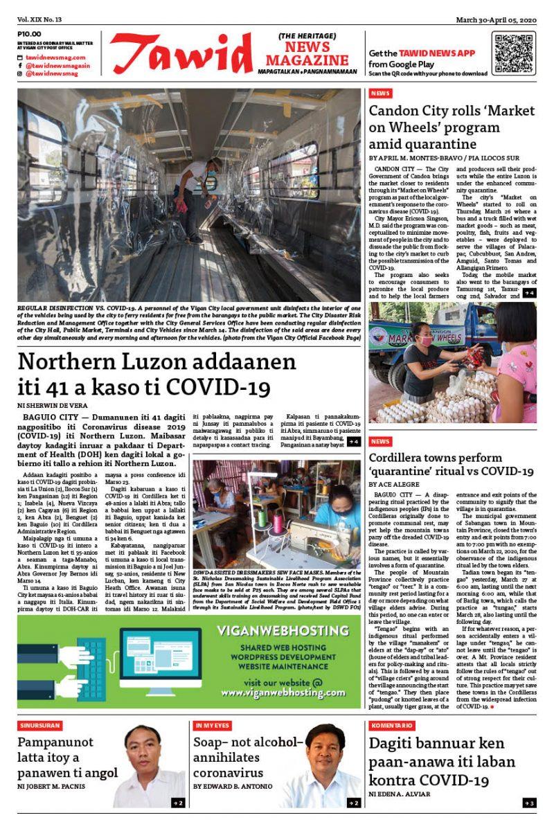 March 30 – April 05, 2020 — Tawid News Magazine