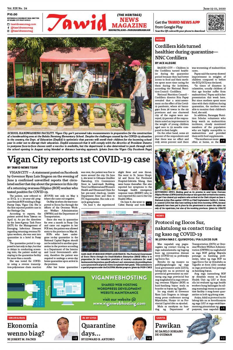 June 15-21, 2020 — Tawid News Magazine