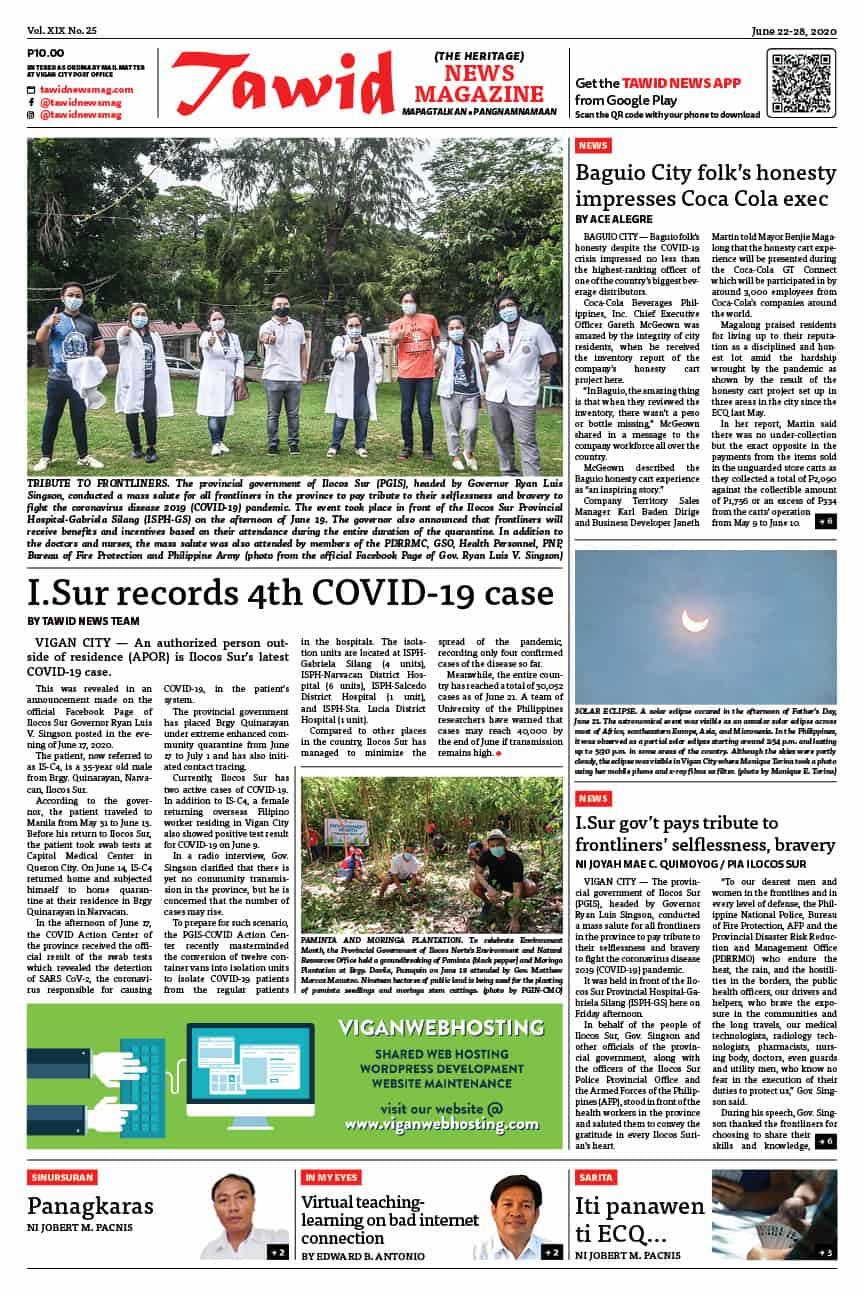 June 22-28, 2020 — Tawid News Magazine