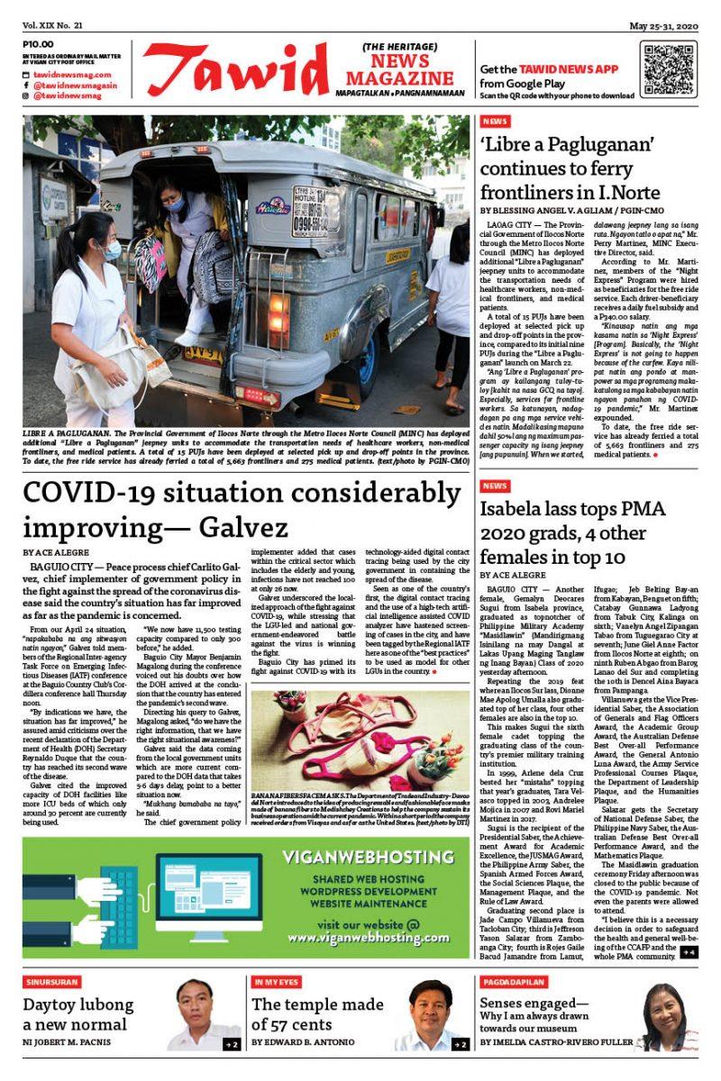 May 25-31, 2020 — Tawid News Magazine