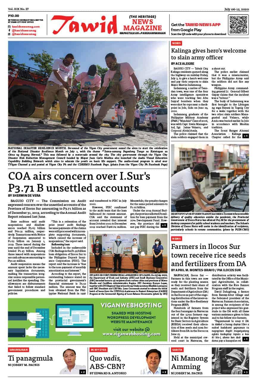 July 06-12, 2020 — Tawid News Magazine