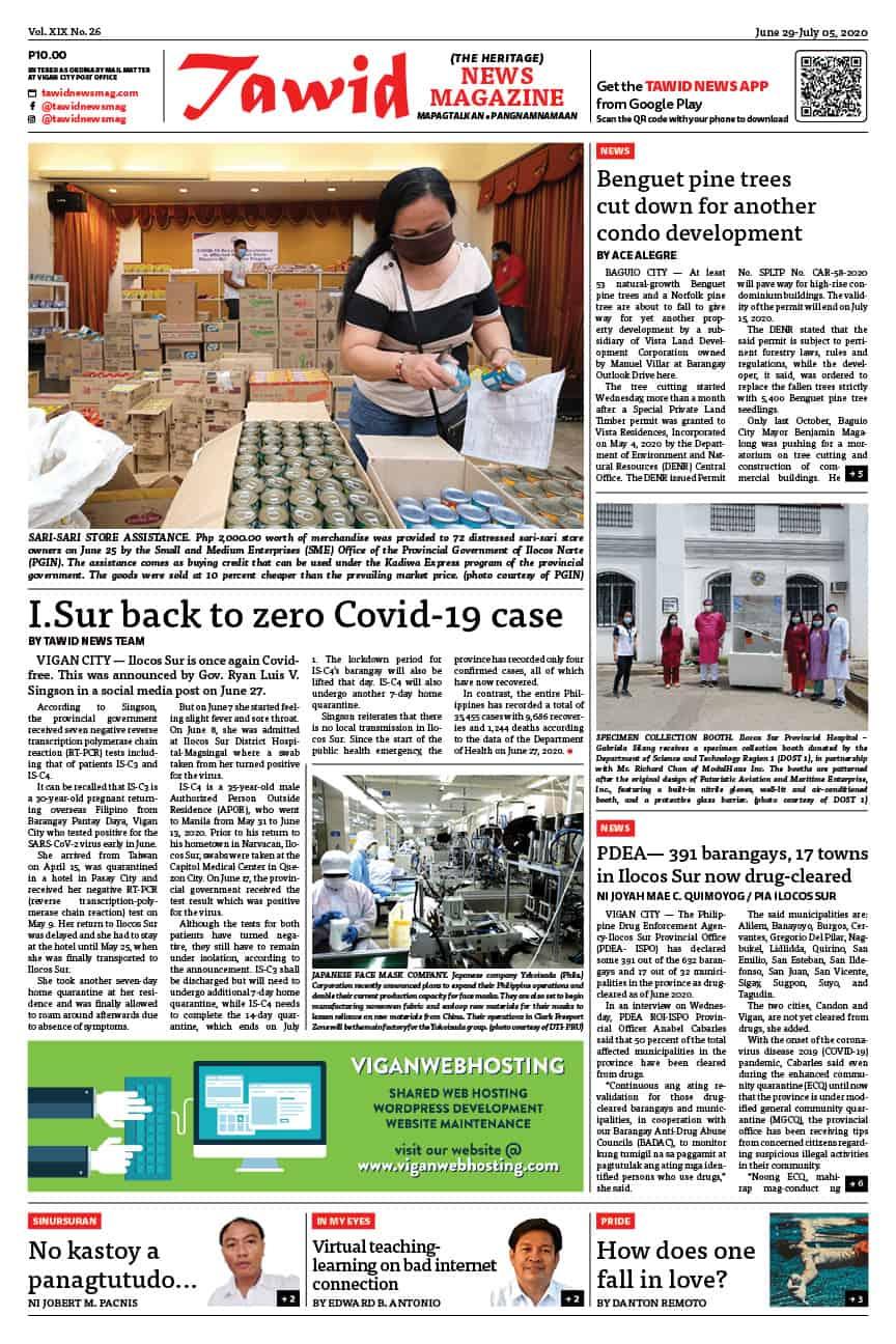 June 29 – July 05, 2020 — Tawid News Magazine